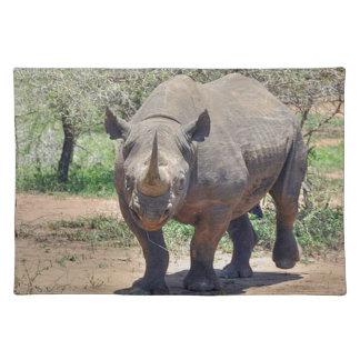 Rhinoceros Cloth Placemat