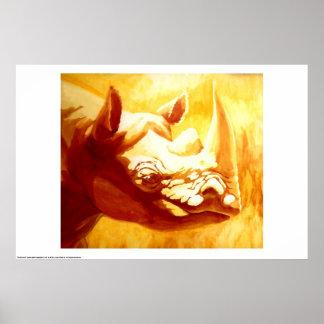 Rhinoceros Print
