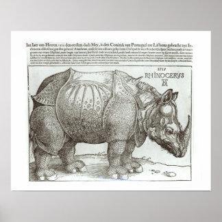 Rhinoceros, print given to Maximilian I (1459-1519
