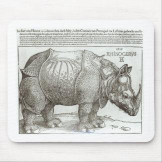 Rhinoceros, print given to Maximilian I (1459-1519 Mouse Pad