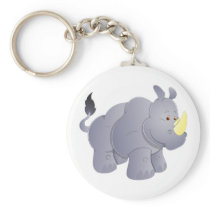 Rhinoceros rhino rhinoceros keychain