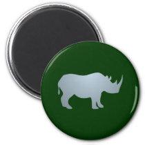 Rhinoceros rhino rhinoceros magnet