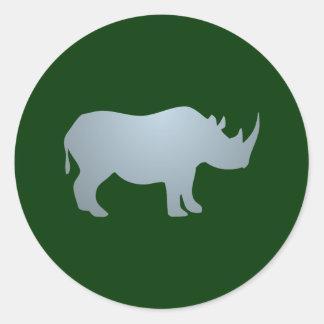Rhinoceros rhino rhinoceros round stickers