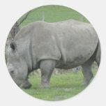 Rhinoceros Round Sticker