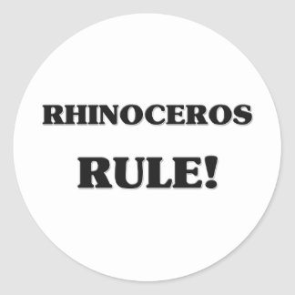 Rhinoceros Rule Sticker