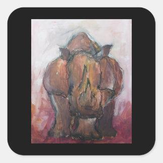 Rhinoceros. Square Sticker