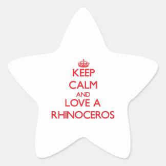 Rhinoceros Star Stickers