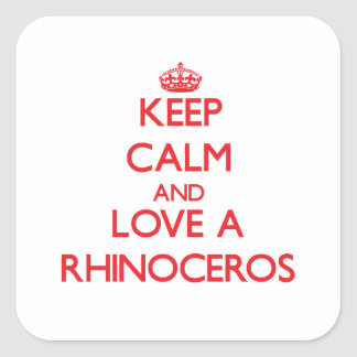 Rhinoceros Stickers