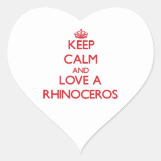 Rhinoceros Heart Sticker
