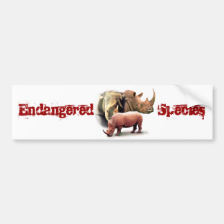 Rhinoceros The Endangered Species Sticker Bumper Stickers