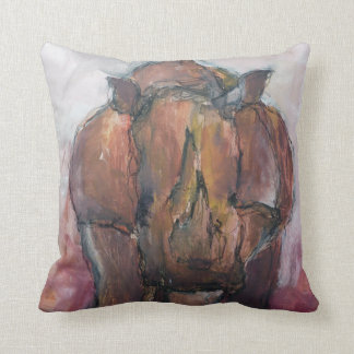 Rhinoceros. Throw Pillow