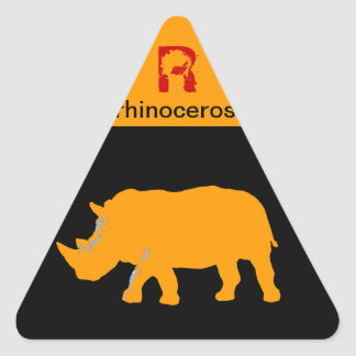 Rhinoceros Triangle Sticker