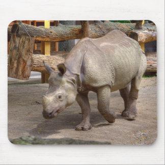 Rhinoceros unicornis mouse pad