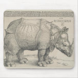 Rhinoceros, Woodcut by Albrecht Durer Mouse Pads