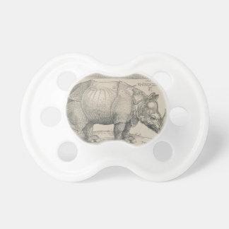 Rhinoceros, Woodcut by Albrecht Durer Pacifier