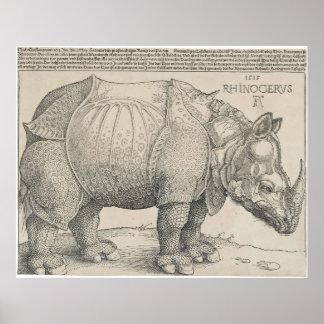 Rhinoceros, Woodcut by Albrecht Durer Print