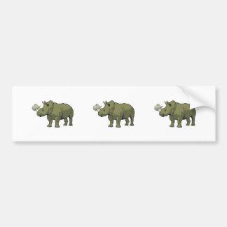 Rhinocerose Bumper Sticker