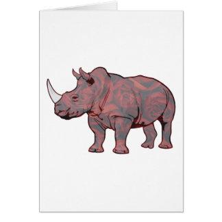 Rhinocerose Tarjetón