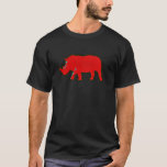rhinocerus rojo de África Playera
