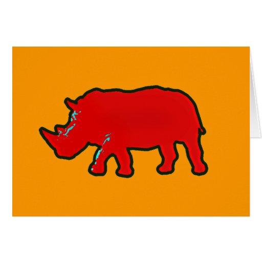 rhinocerus rojo de África Tarjeta