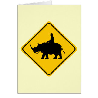 Rhinohback Rider Crossing Cards