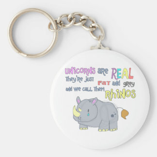 rhinos are just ugly unicorns keychain