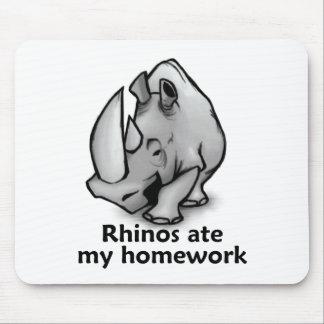 Rhinos Ate my Homework Mouse Pad