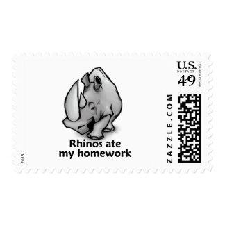 Rhinos Ate my Homework Stamps