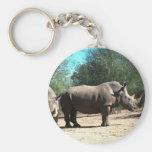 Rhinos blancos llavero personalizado