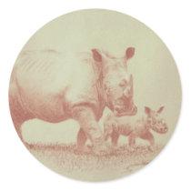 Rhino's Classic Round Sticker