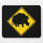 RHINOS CROSSING ROAD SIGN MOUSE MATS