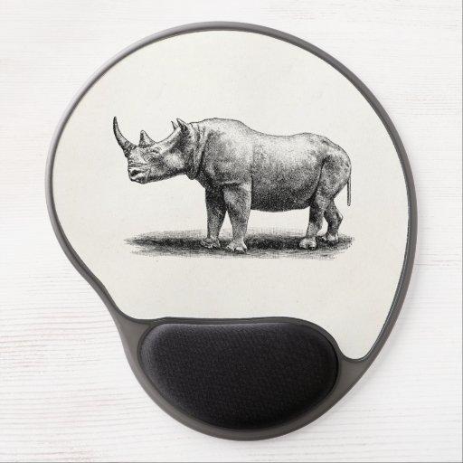 Rhinos del rinoceronte del ejemplo del rinoceronte alfombrilla de ratón con gel
