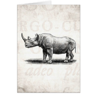 Rhinos del rinoceronte del ejemplo del rinoceronte felicitación