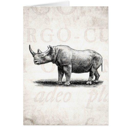 Rhinos del rinoceronte del ejemplo del rinoceronte tarjeta pequeña
