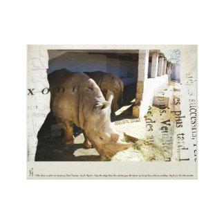 Rhinos in Rehab Canvas Print