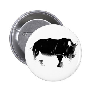 Rhinos Rock Pinback Buttons