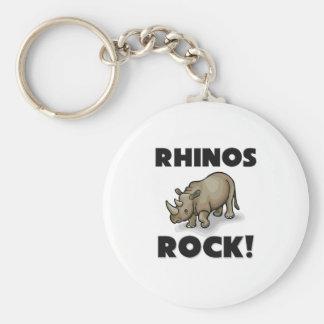 Rhinos Rock Keychain