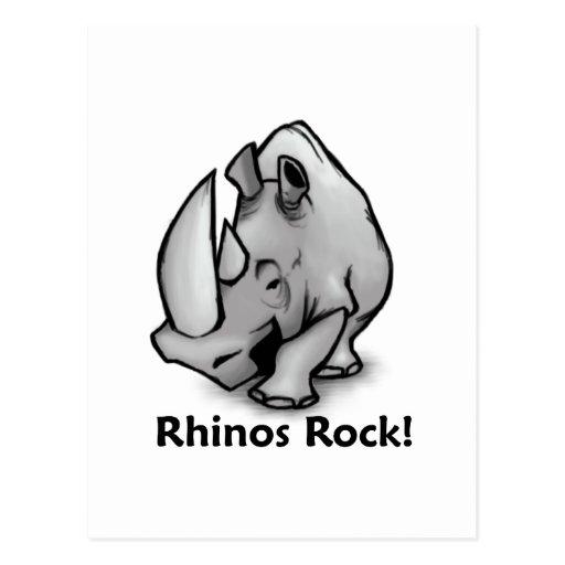 Rhinos Rock! Postcard