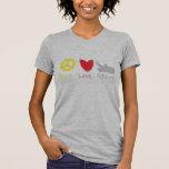 Rhinos Tanktop del amor de la paz Camisetas