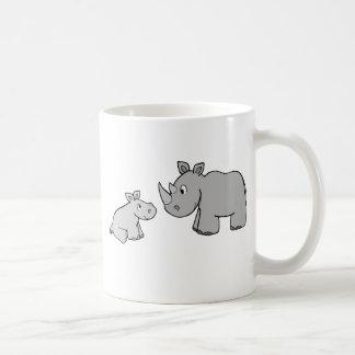 Rhinos Taza Básica Blanca