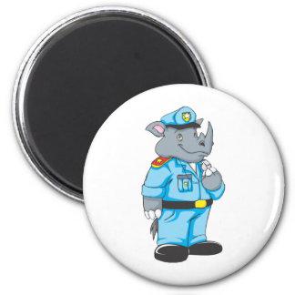 Rhinosaurus Policeman in Uniform Magnet