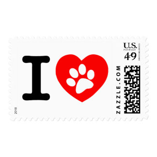 RHLAC  RED HEART LOVE ANIMALS CAUSES MOTIVATIONAL POSTAGE