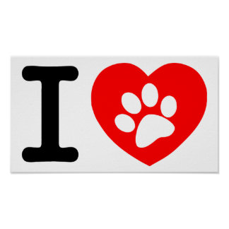 RHLAC  RED HEART LOVE ANIMALS CAUSES MOTIVATIONAL POSTER
