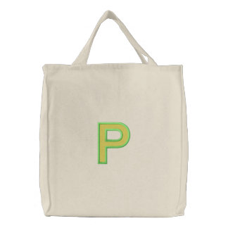 Rho Column with Fill (Part1) Embroidered Tote Bag