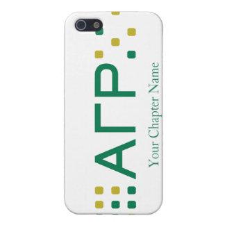 Rho gamma alfa - letras horizontales iPhone 5 cárcasas