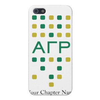 Rho gamma alfa - letras verticales iPhone 5 protectores