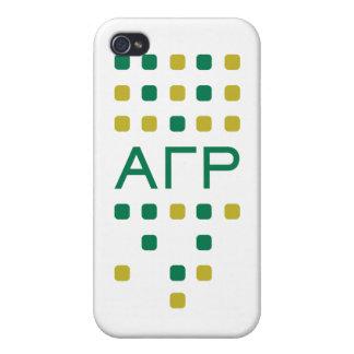 Rho gamma alfa - letras verticales iPhone 4 cobertura