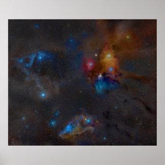 Rho Ophiuchi Cloud Complex Dark Nebula Poster