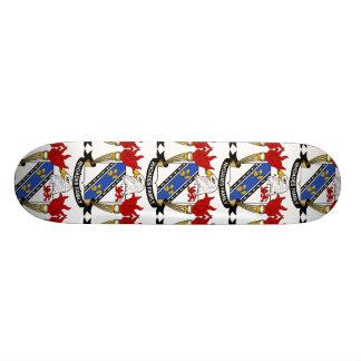 Rhoades Family Crest Custom Skate Board