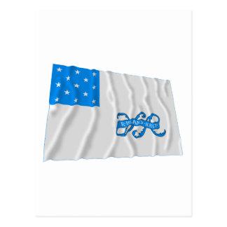 Rhode Island 1st Regiment Waving Flag Postcard